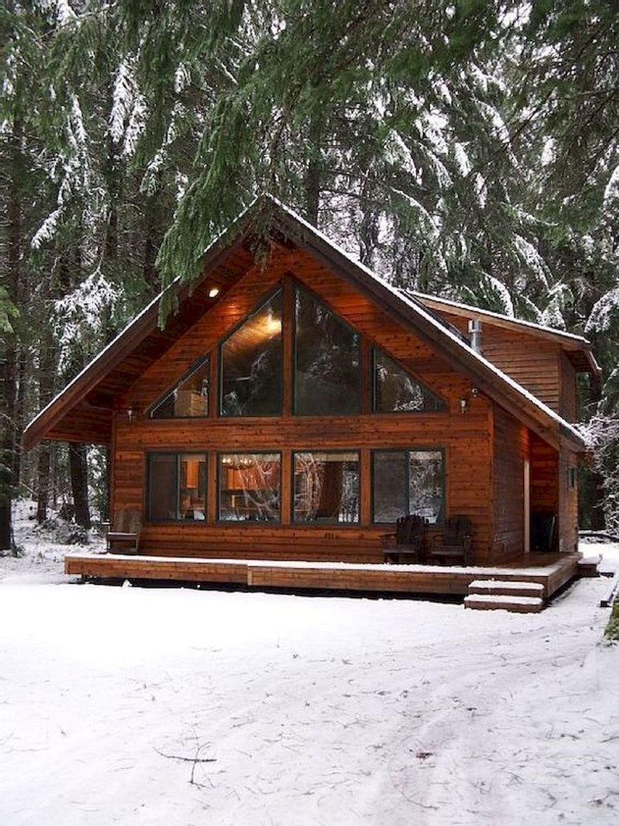 66 Best Small Log Cabin Homes (50)