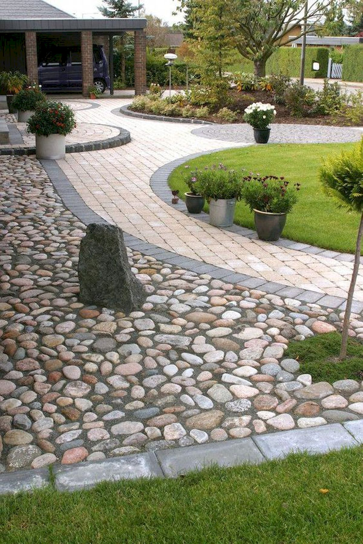 71 Beautiful Gravel Garden Design Ideas For Side Yard And ... on Patio And Gravel Garden Ideas id=99809
