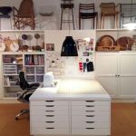 40 Stunning Craft Room Cabinets Decor Ideas and Design (32)