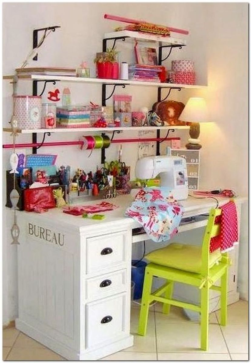 50 Most Popular Craft Room Sewing Decor Ideas (11)