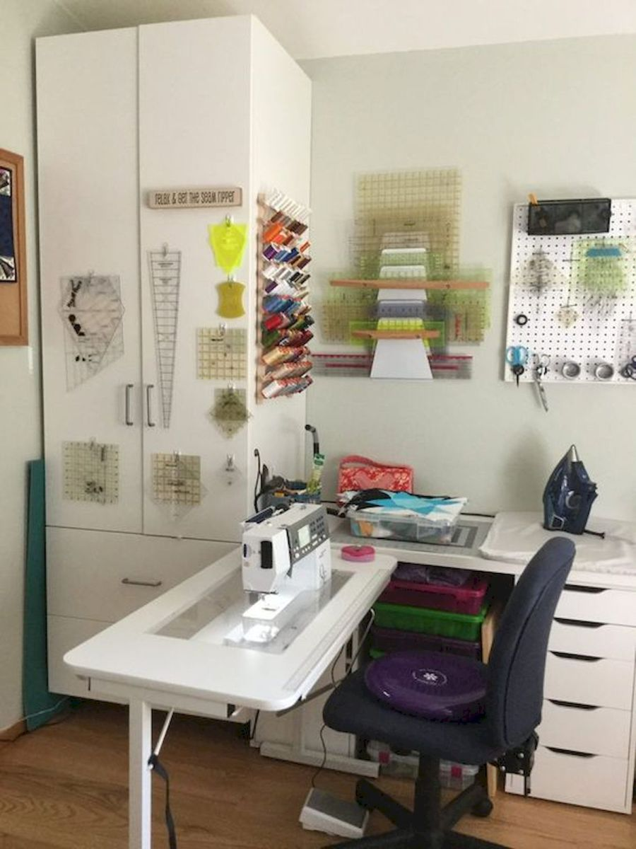 50 Most Popular Craft Room Sewing Decor Ideas (17)