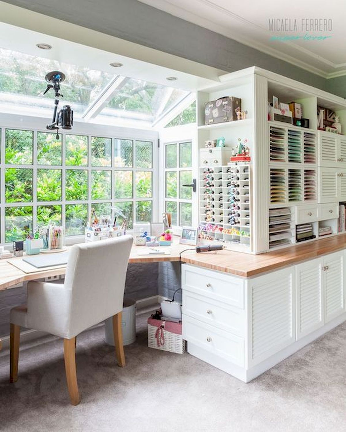 Designing A Sewing Room: 50 Most Popular Craft Room Sewing Decor Ideas (26)