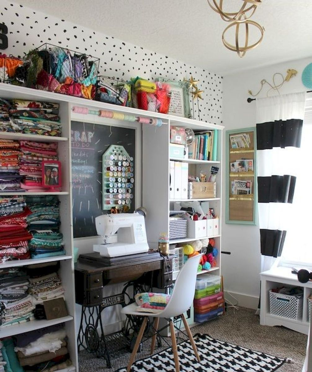 50 Most Popular Craft Room Sewing Decor Ideas (34)