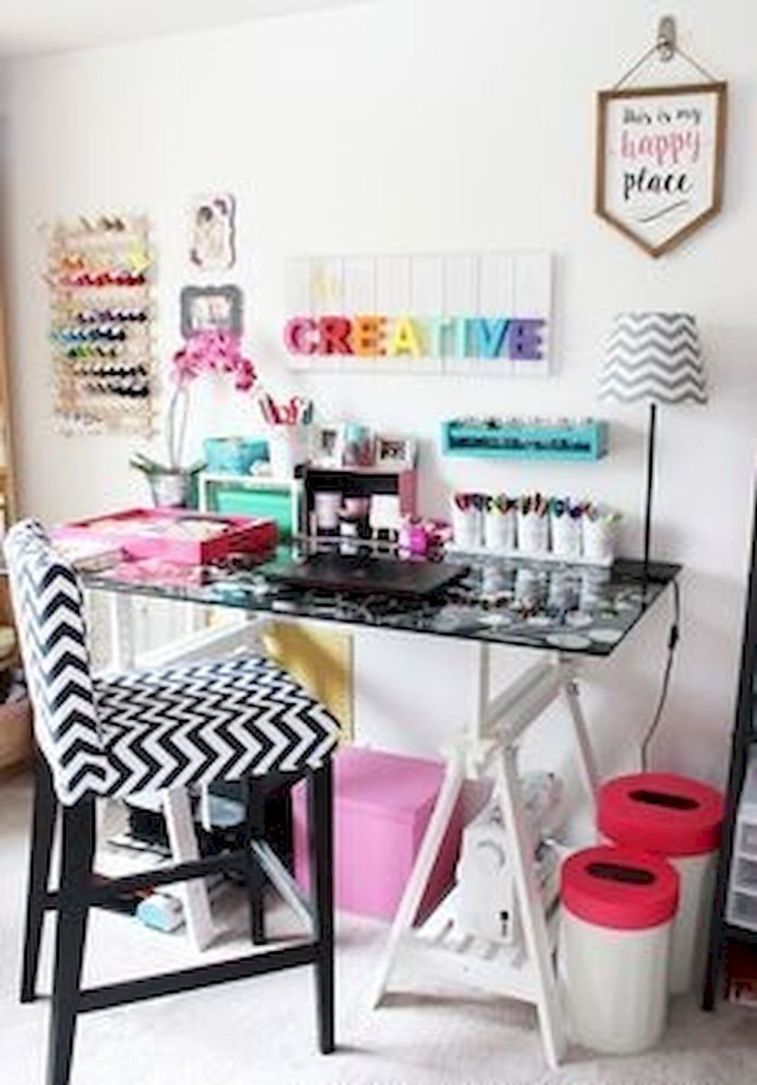 50 Most Popular Craft Room Sewing Decor Ideas (40)