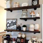 60 Amazing Mini Coffee Bar Ideas for Your Home (48)