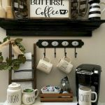60 Amazing Mini Coffee Bar Ideas for Your Home (52)