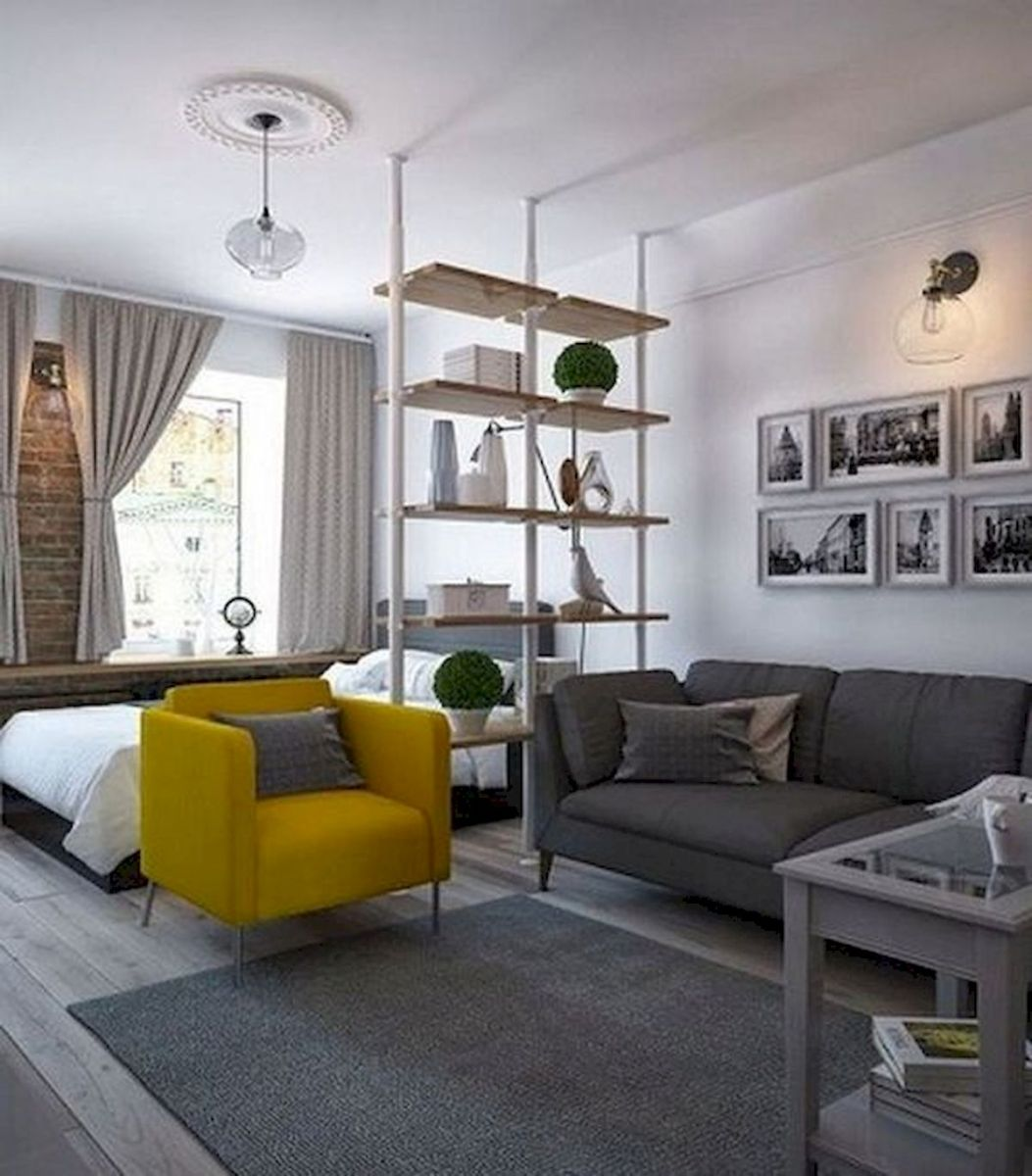 53 Best Minimalist Studio Apartment Small Spaces Decor Ideas (23)