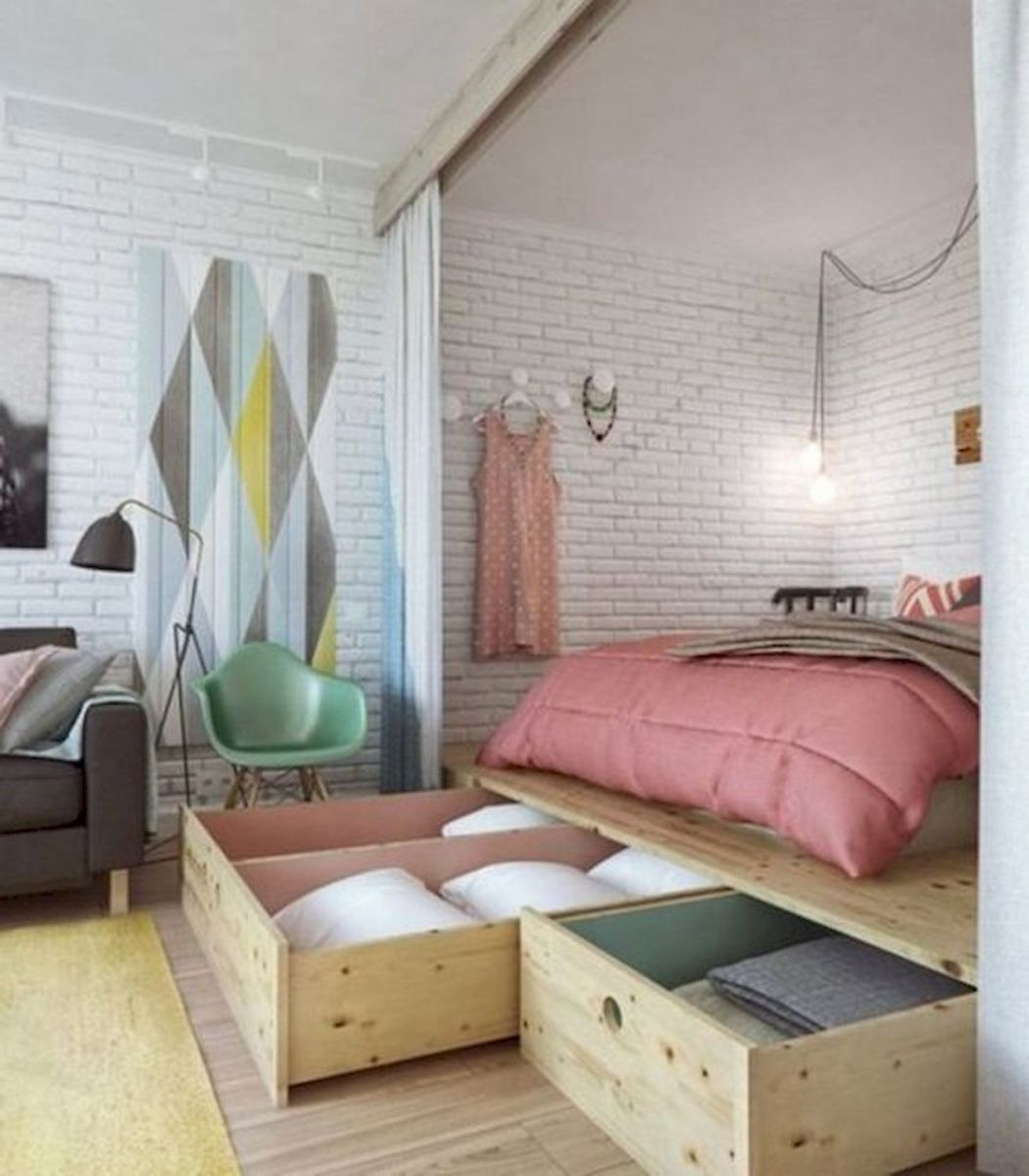 66 Studio Apartment Storage Decor Ideas (13)