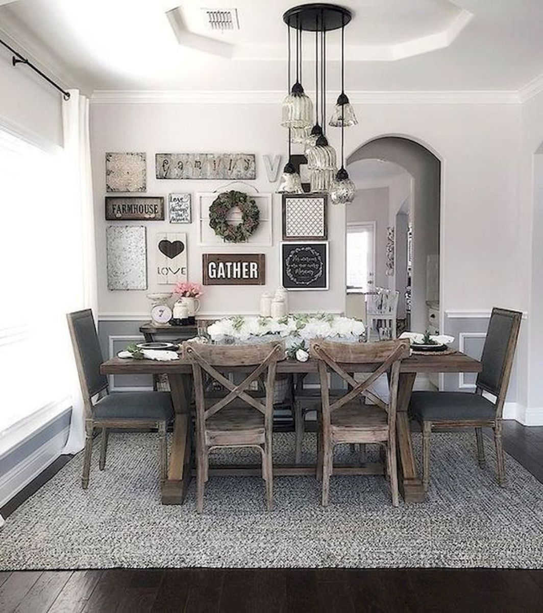 51 Farmhouse Wall Decor Ideas for Dinning Room (41)