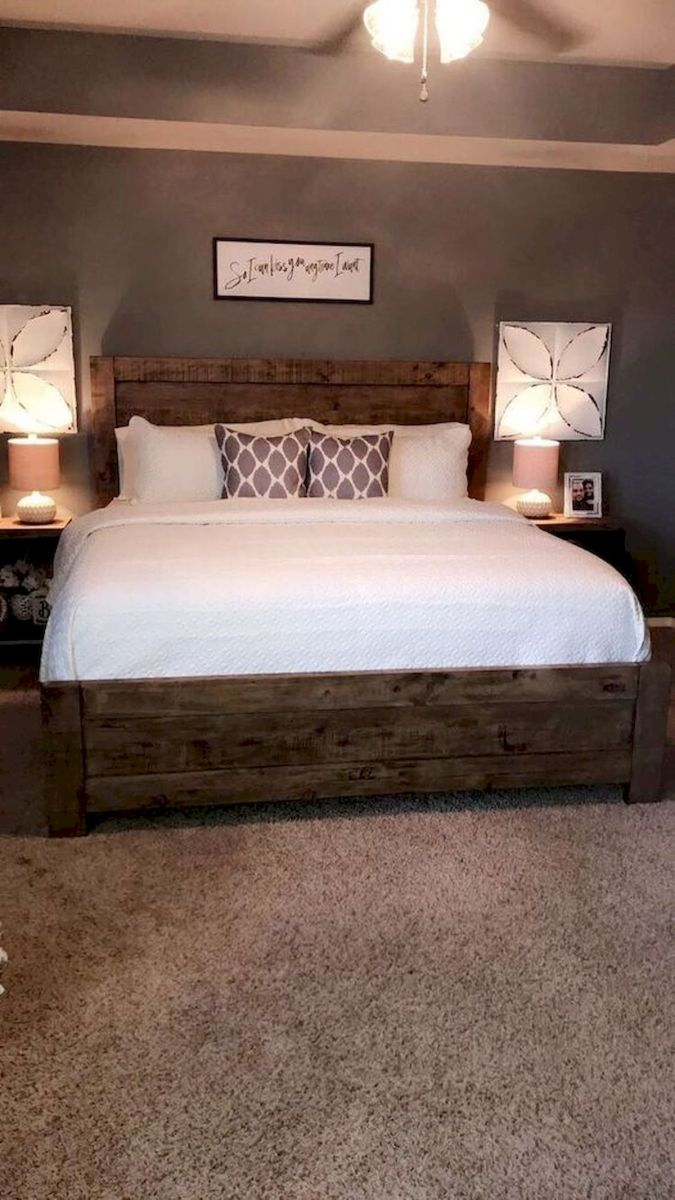 53 Farmhouse Wall Decor Ideas for bedroom (27)