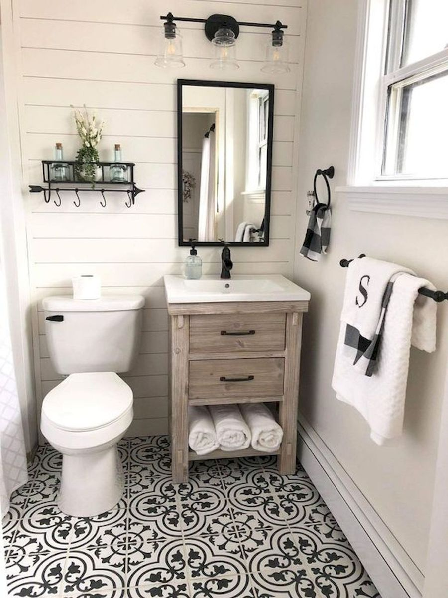 59 Best Farmhouse Wall Decor Ideas for Bathroom (18)