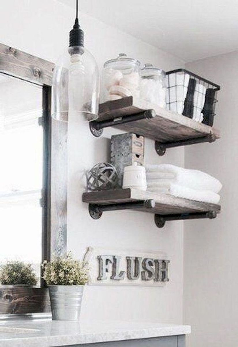 59 Best Farmhouse Wall Decor Ideas for Bathroom (25)