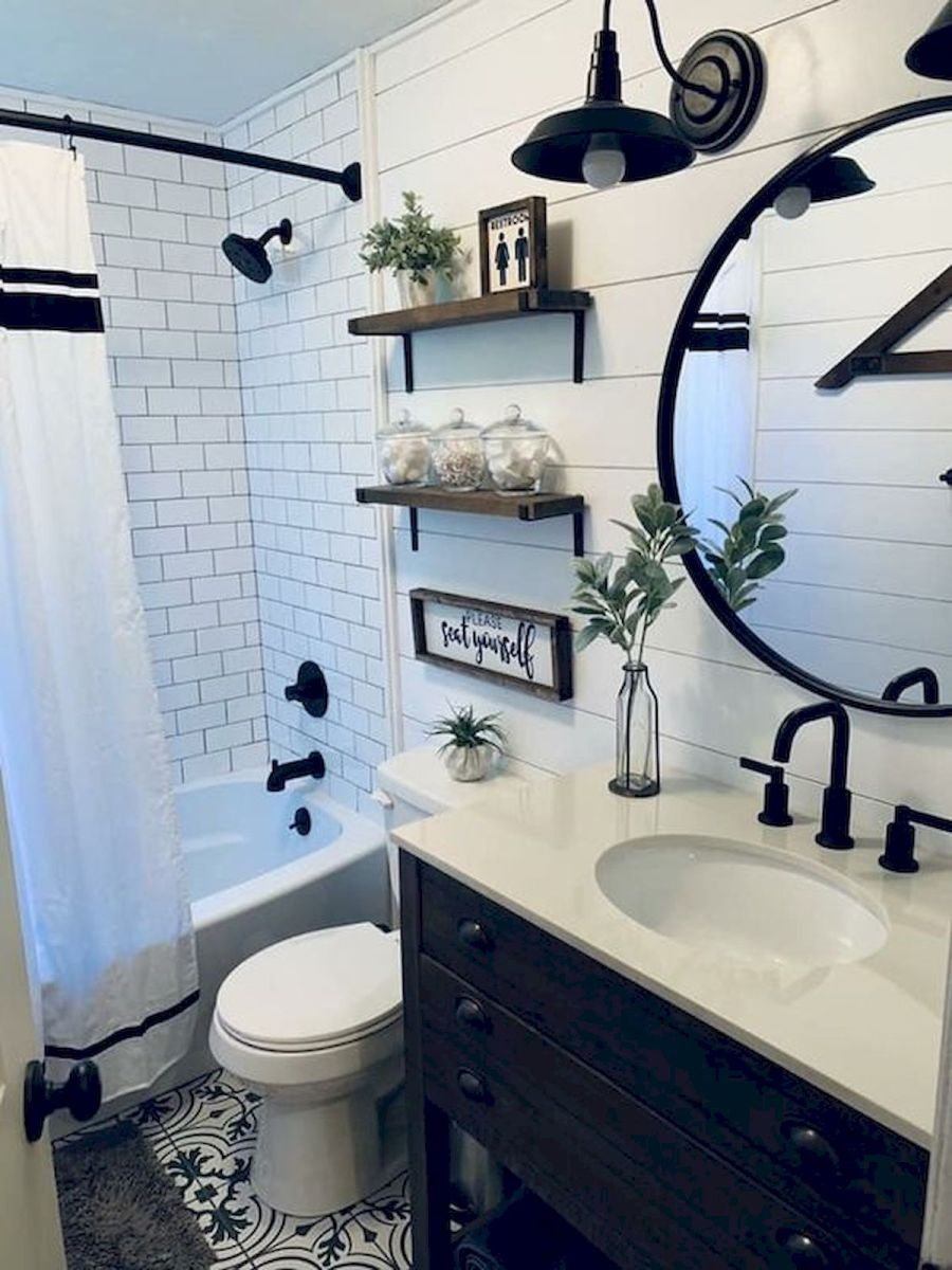 59 Best Farmhouse Wall Decor Ideas for Bathroom (40)