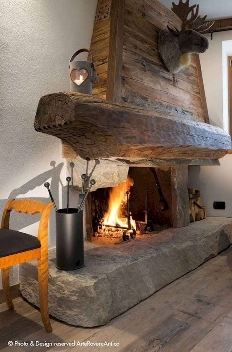 The Best Fireplace Ideas for Farmhouse (6)