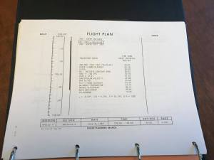 The last page of the plan is the Command Module splashing down into the Pacific ocean. The work of the flight director and the hundreds of engineers guiding and monitoring the space ship are done... until the next mission!