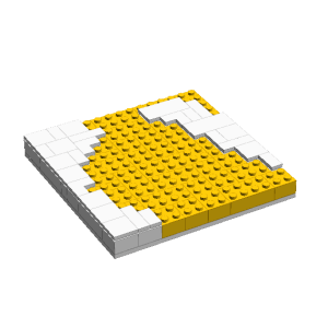 Well, you can tell that this project will be colorful! As with the tile of Denmark, I am using LEGO tiles to give depth and a different texture to the art.