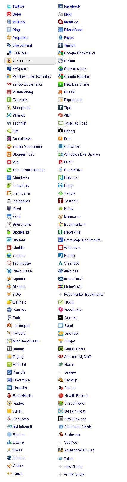 social share sites