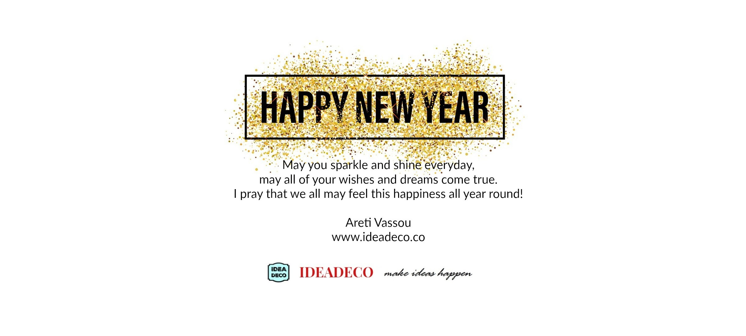 Happy New Year from Areti Vassou and Ideadeco Team
