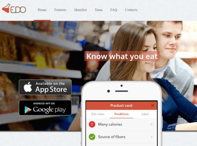 EDO App - Know what you eat