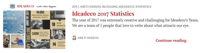 Ideadeco Statistics 2017
