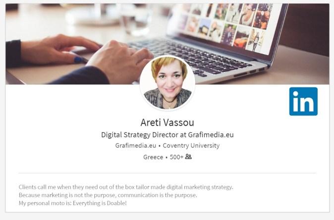 LinkedIn Areti Vassou 2018
