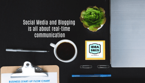 Social Media and Blogging is all about real-time communication - Areti Vassou Ideadeco
