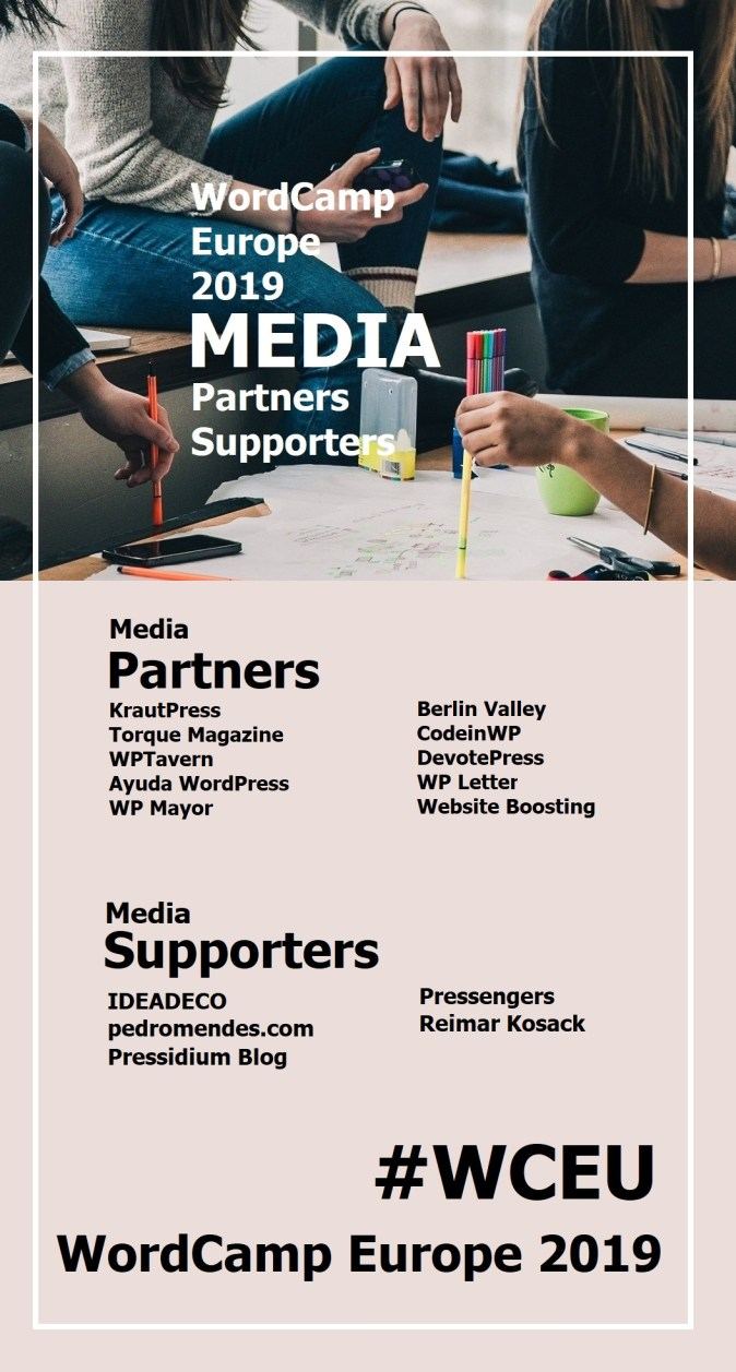 WordCamp Europe 2019 Official Media Partners and Supporters