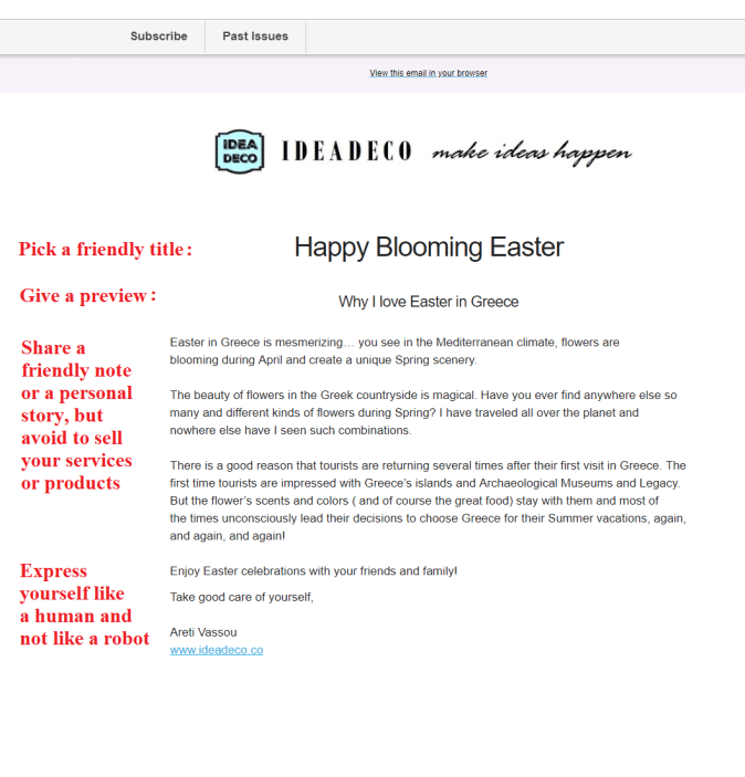 Ideadeco Easter Email