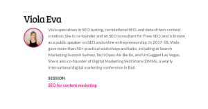 SEO for content marketing by Viola Eva
