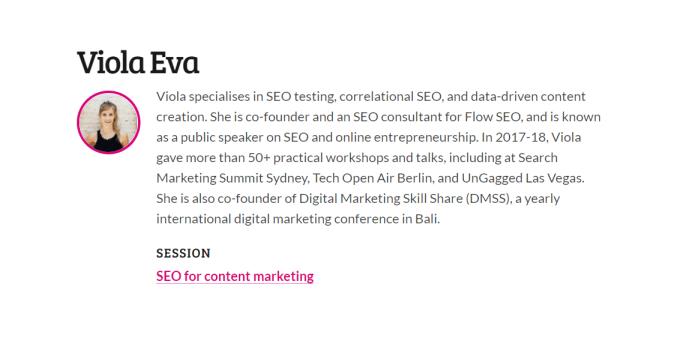 SEO for content marketing by Viola Eva