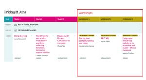 WordCamp Europe 2019 Workshops Friday 21 at 10.00 am