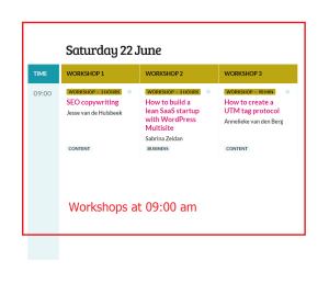 WordCamp Europe 2019 Workshops Saturday 22 at 9 am