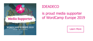 Ideadeco is proud media supporter of WordCamp Europe 2019 #WCEU