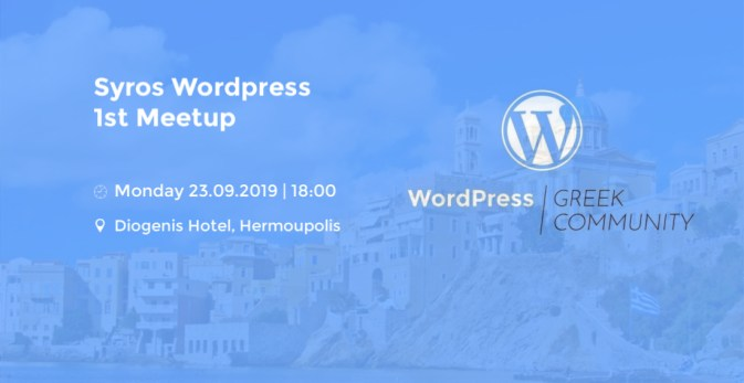 Syros 1st WordPress Meetup