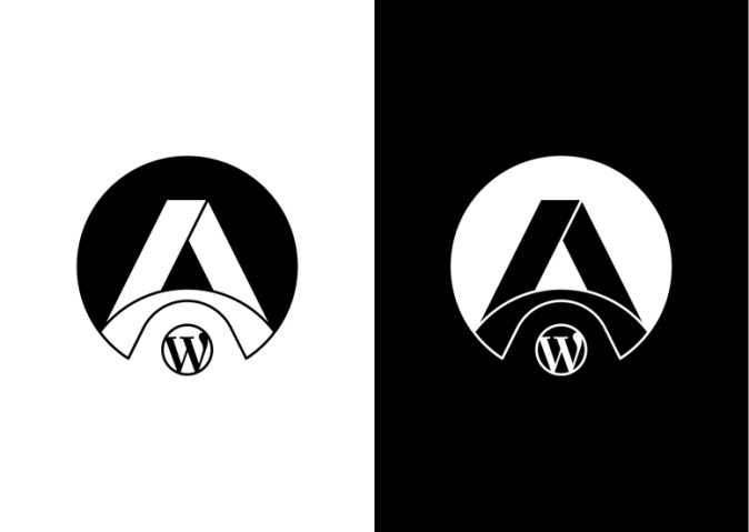 Final black & white version of the Logomark