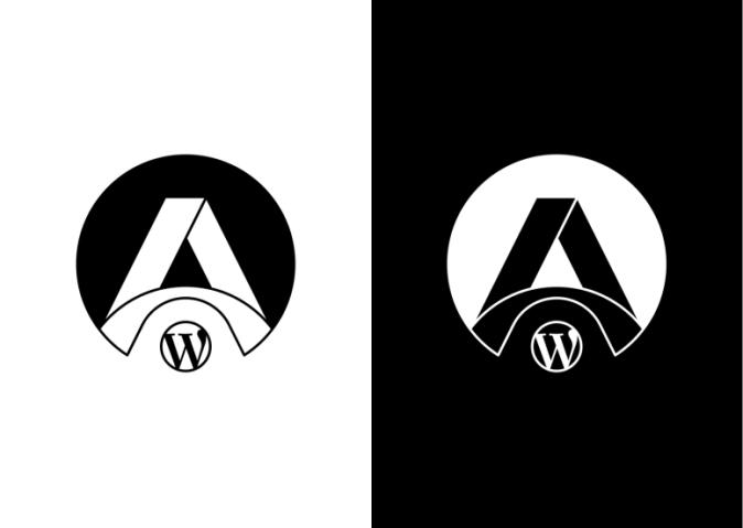 Final black & white version of the Logomark