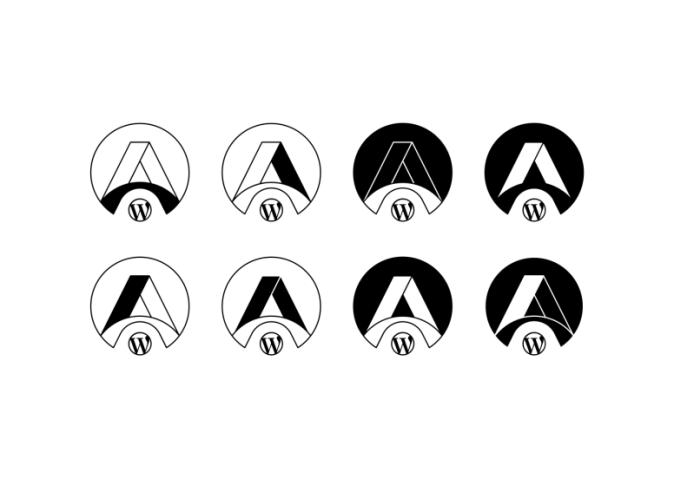 Variations for filled black & white version