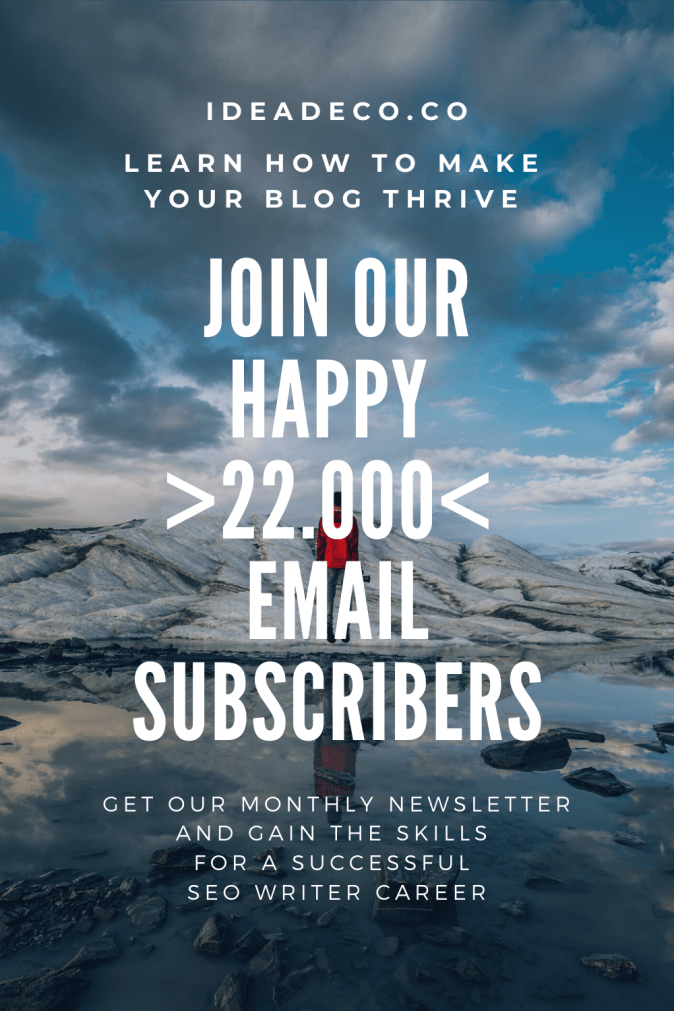 join our happy 22.000 email subscribers