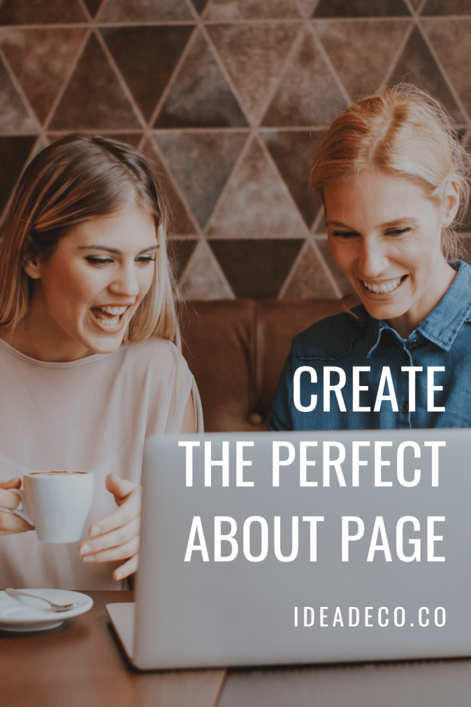 Create the Perfect About Page by Areti Vassou Ideadeco