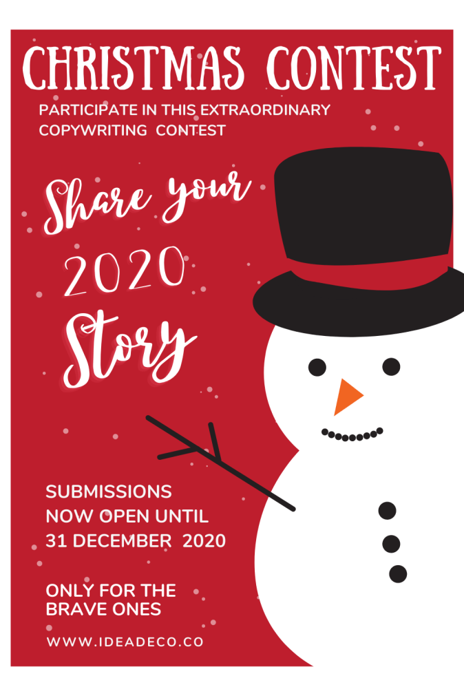 Copywriting Contest About 2020 Stories