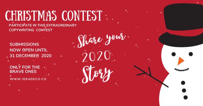 IDEADECO CHRISTMAS Copywriting Contest: Share Your 2020 Story