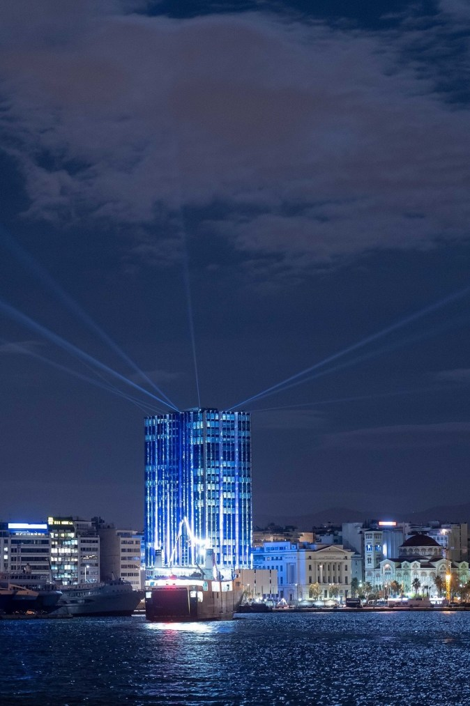 Art Installation at Piraeus Tower in Greece, Photo by Patroklos Stellakis Ideadeco