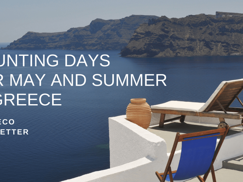 Counting days for May and Summer in Greece - Ideadeco Newsletter