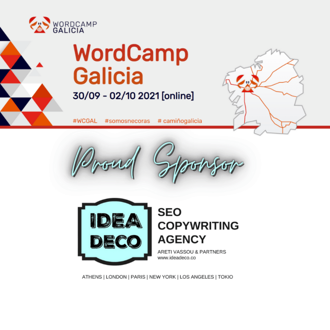 IDEADECO SEO COPYWRITING AGENCY is PROUD SPONSOR of the WORDCAMP GALICIA 2021 ONLINE