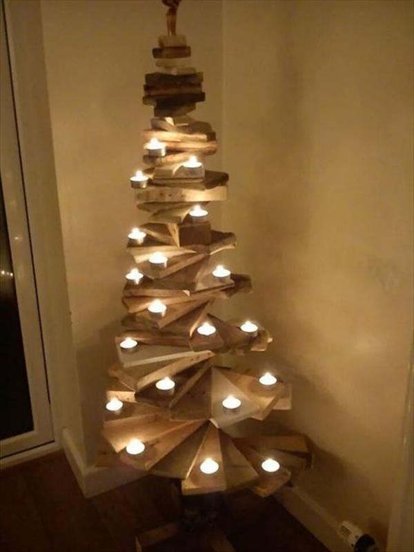 Idee natalizie con pallet e cassette di legno Ecco 20