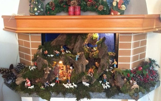 Creare Il Presepe Di Natale Nel Caminetto 15 Esempi