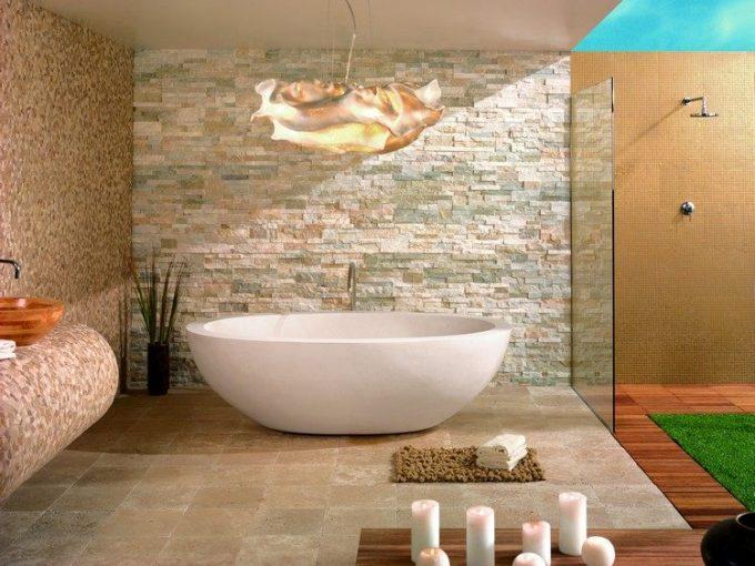 Rivestimenti in pietra nel bagno 20 esempi bellissimi a cui ispirarsi