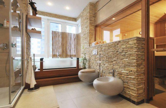 Rivestimenti in pietra nel bagno 20 esempi bellissimi a