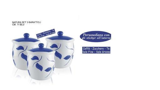 Set 3 Barattoli Natura blu ideadicasa8034116027974