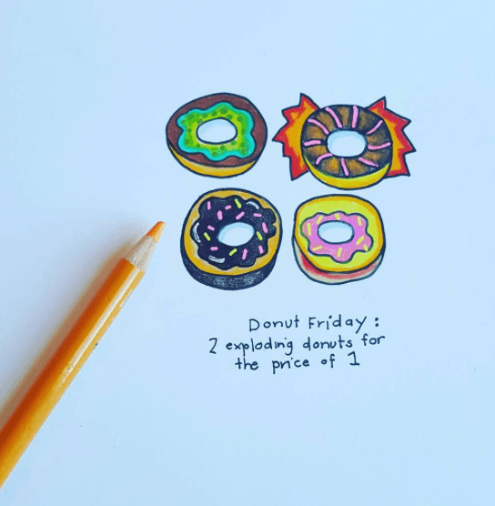 Creative Prompt: Donut Drawing Lesson